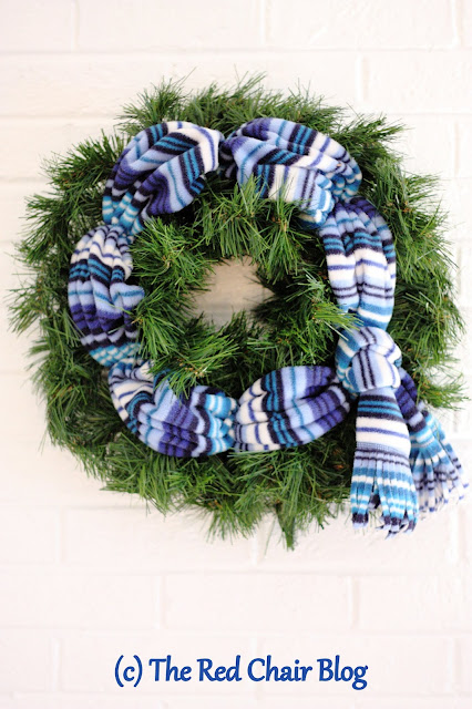 January wreath DIY winter door porch decor The Red Chair Blog