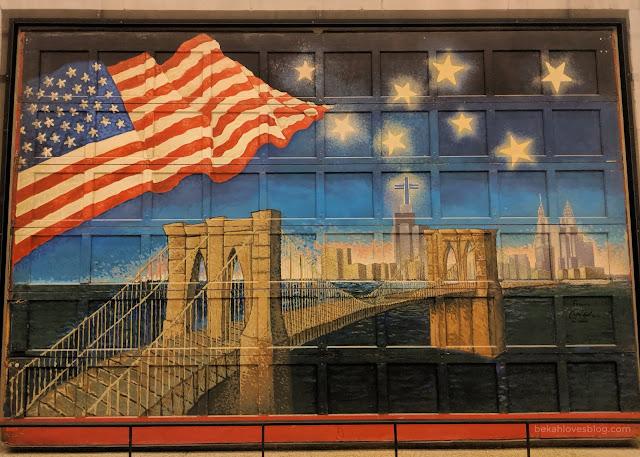 9/11 museum mural