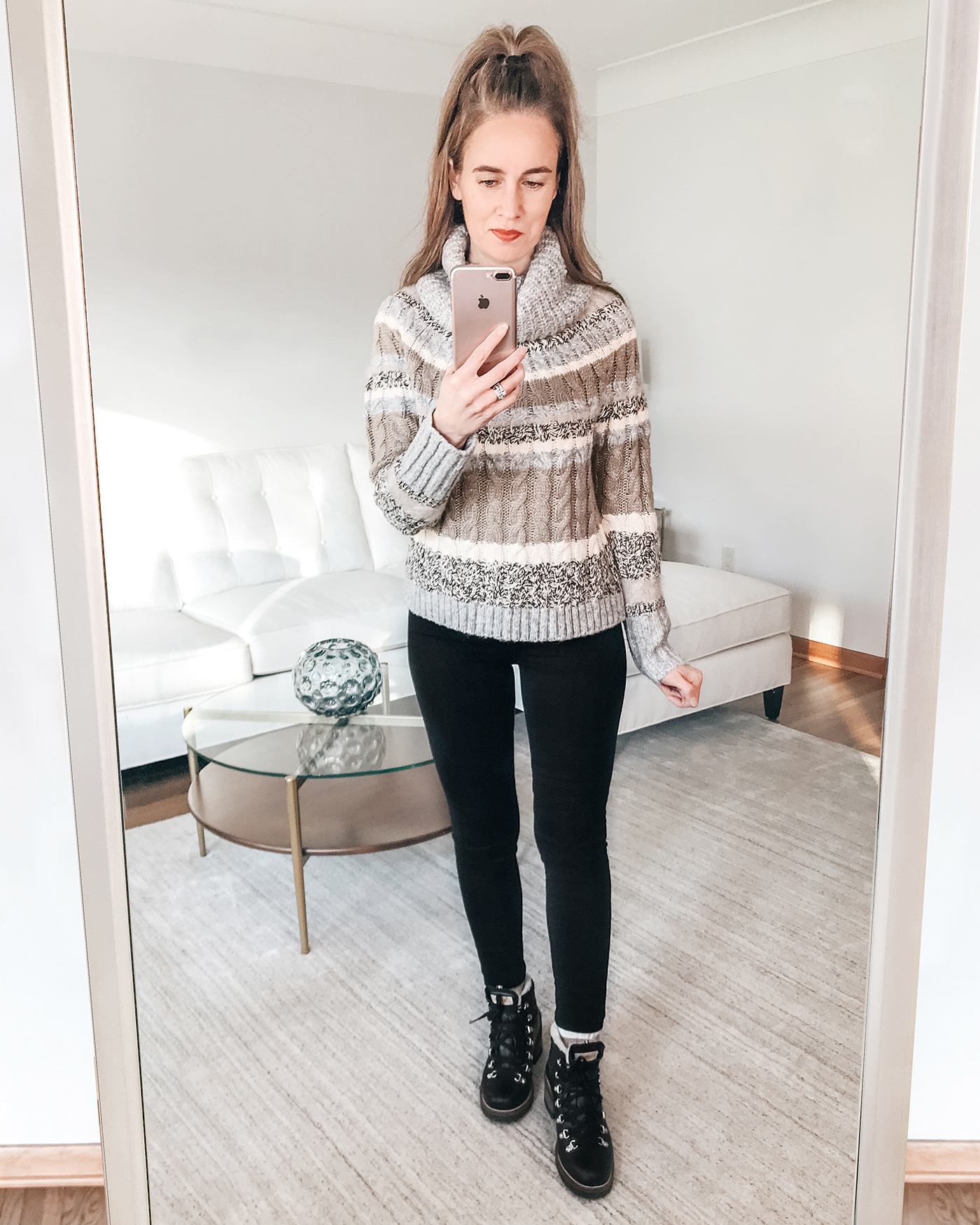 LOFT striped winter sweater