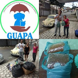 Entrega de Tampinhas GUAPA | Rações e outras doações