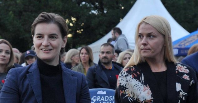 Ana Brnabic (left) and Milica Gjagrac