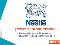 Jawatan Kosong di Nestle Malaysia - Gaji RM1,500 - RM3,000++