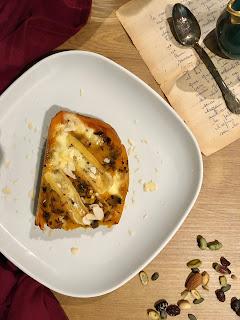 image Butternut farci au reblochon, échalotes confites et champignons