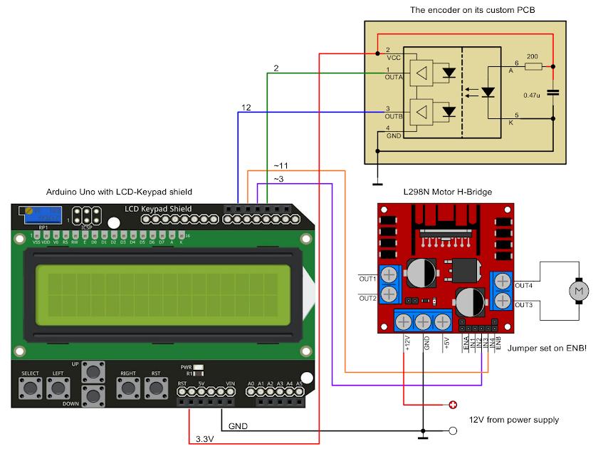 Arduino motor PID controller schematic