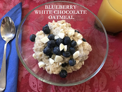Blueberries, oatmeal, and white chocolate...What could be better?