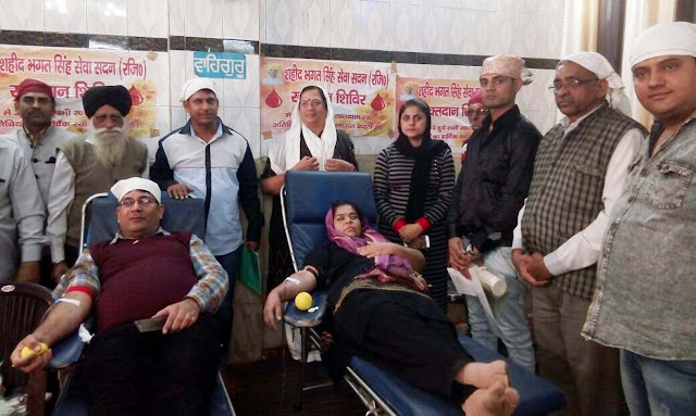 Shaheed Bhagat Singh Seva Sadan organized 36th Blood Donation Camp