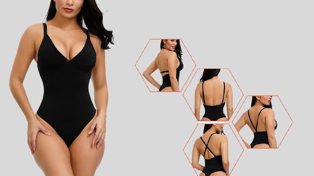 Super Sexy Black Adjustable Straps Plus Size Shape