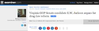 E.W. Jackson Senate candidate drug law reform