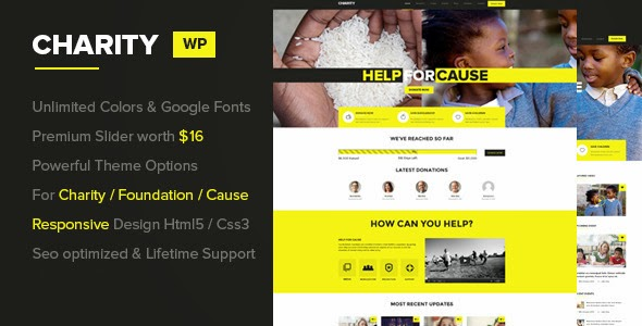 Responsive Charity website template