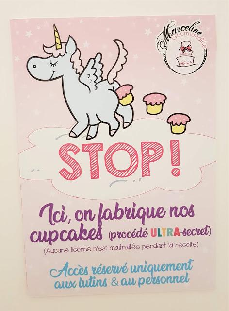 affiche cupcake licorne