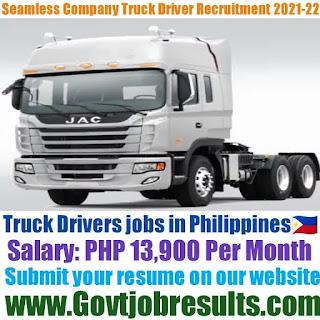 Seamless Company Truck Driver Recruitment 2021-22