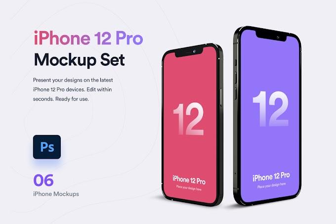 iPhone 12 Pro Mockup[Photoshop]