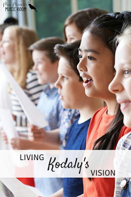 Living Kodaly's vision: Thoughts about how your teaching can fit Kodaly's vision. Blog post includes elementary music songs, ideas, and more!