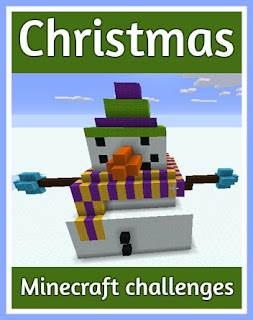 Christmas themed Minecraft challenges for children