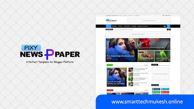 Pixy Newspaper 10 - Premium Magazine Blogger Template