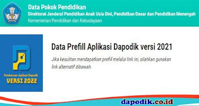 Link Prefill Untuk Dapodik Dengan Wilayah Provinsi