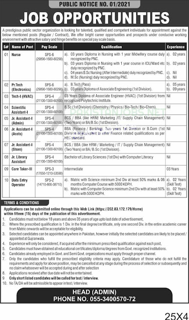 PAEC Public Sector Organization Jobs March 2021 Apply Online Latest