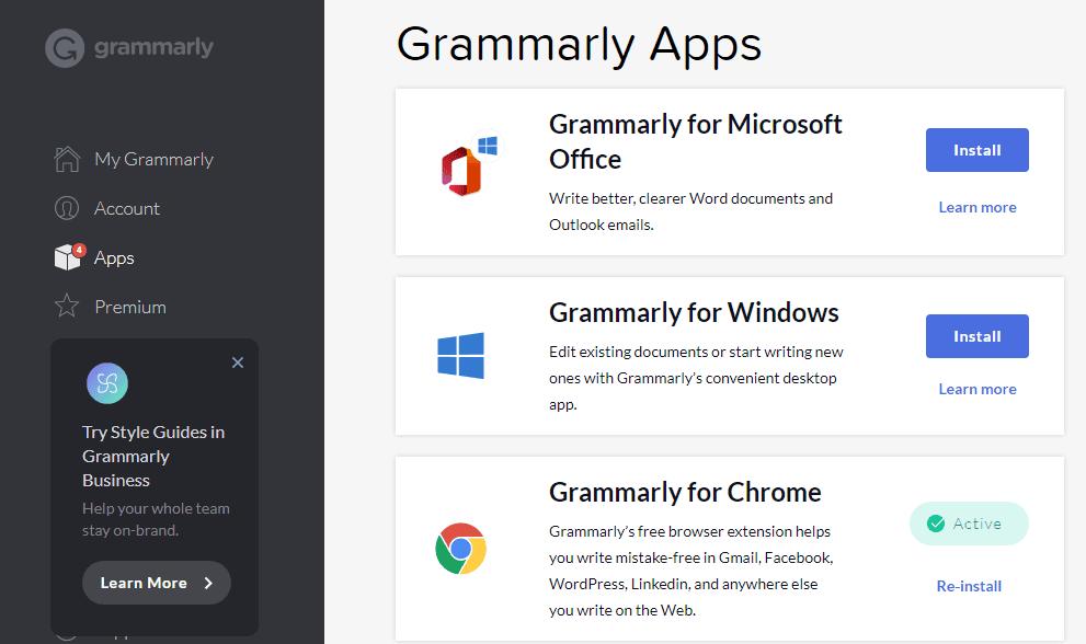 اضافة grammarly لبرنامج office