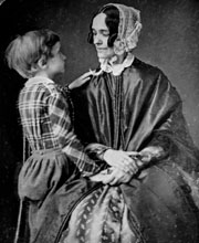 photograph of the First Lady and her son Benjamin