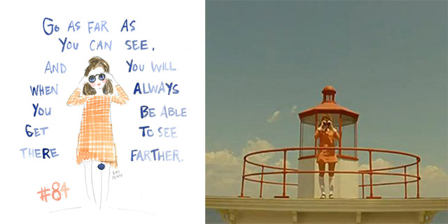 picture of process drawing with moonrise kingdom movie still