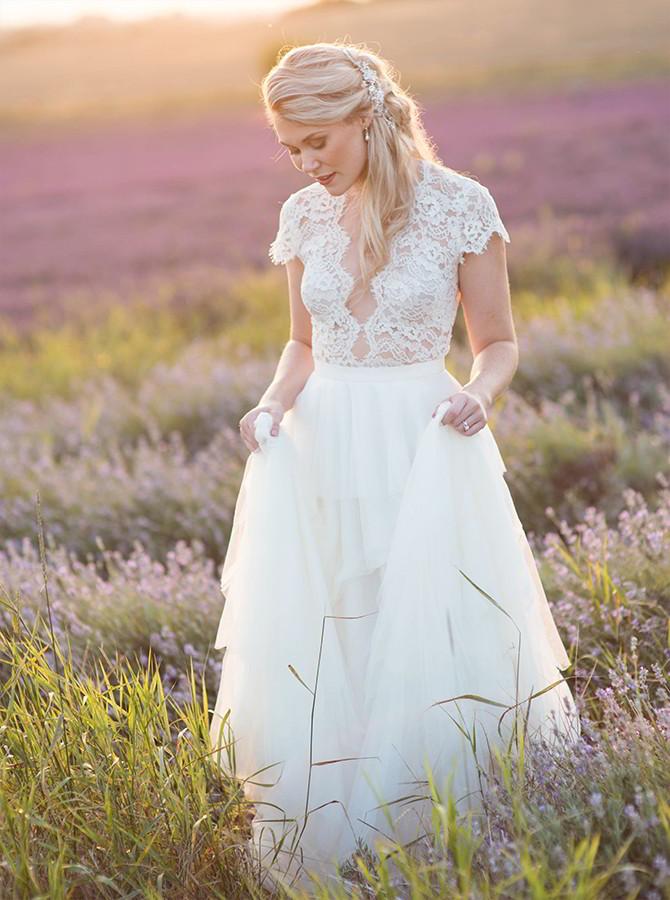Beautiful Lavender Bridal Editorial - Eva Tarnok Photography ...