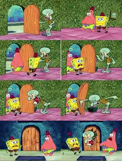 Polosan meme spongebob dan patrick 24 - squidward sedang emosi
