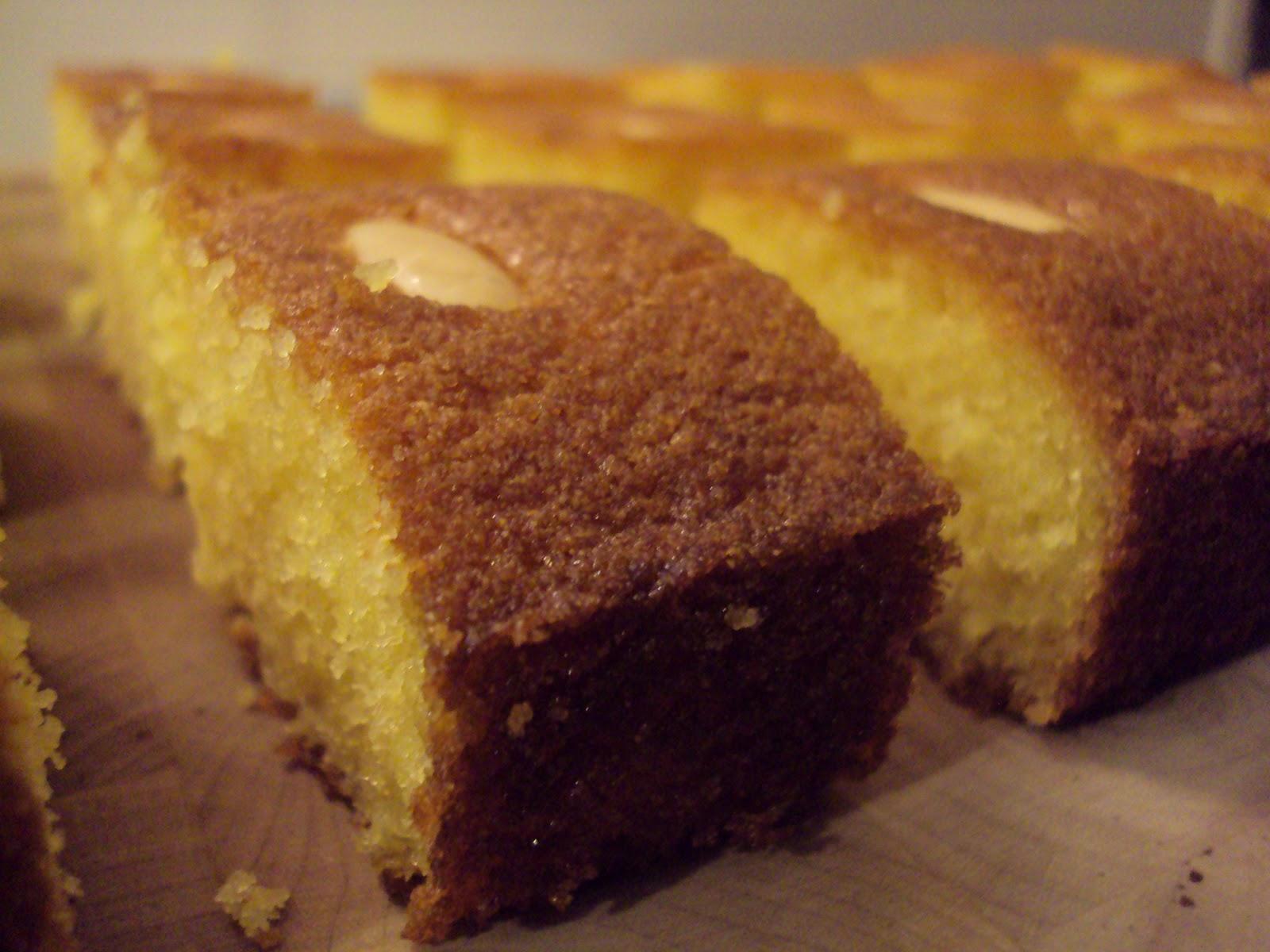 Sticky Semolina Cake Recipe