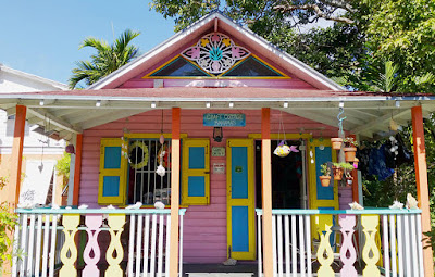 Colourful wooden cottage