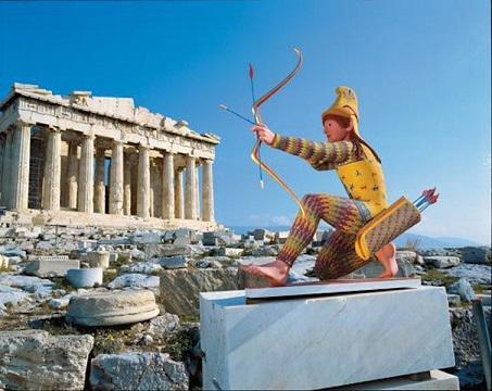 Les chefs-d'œuvre de la Grèce antique étaient peints de couleurs éclatantes