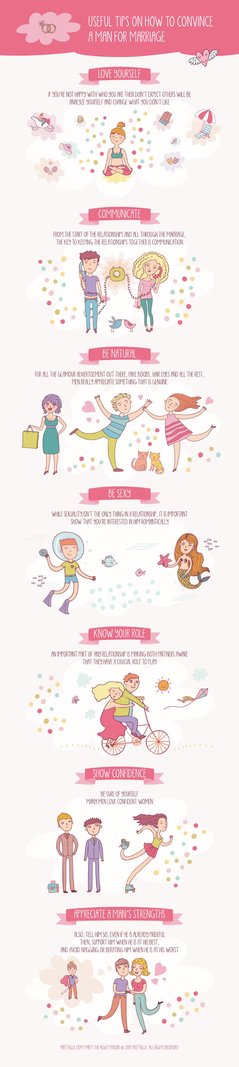 Useful Tips on How to Convince a Man for Marriage #infographic #Marriage #Wedding