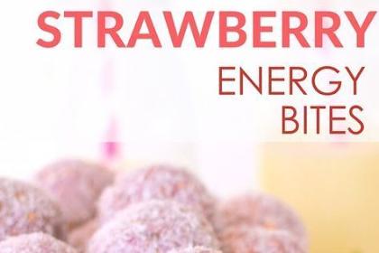 Strawberry breakfast bites