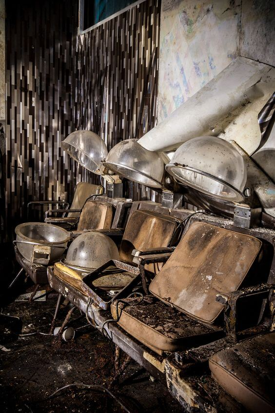 Abandoned hair salon