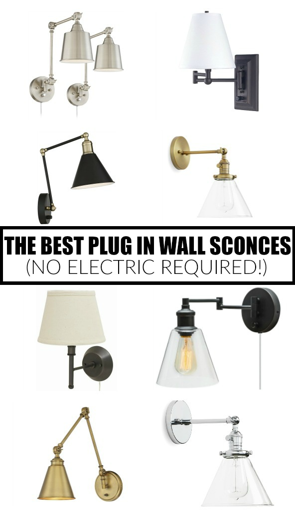 the best plug in wall sconces, wall sconces, lighting