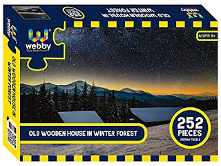 Webby Old Wooden House in Winter Forest Jigsaw Puzzle, 252 Pieces