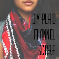 diy plaid flannel scarf, make your own scarf, diy fall accessories, lauren banawa