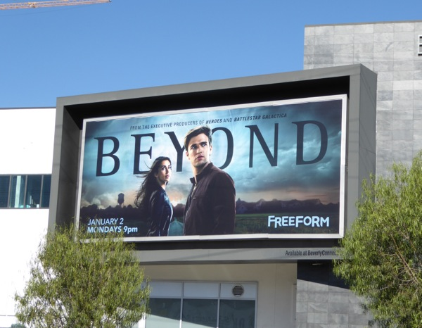 Beyond series launch billboard