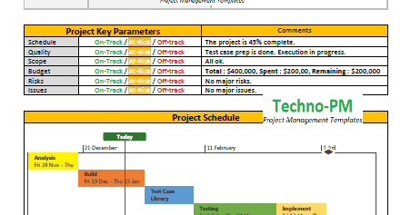 project status report template 10 download project management