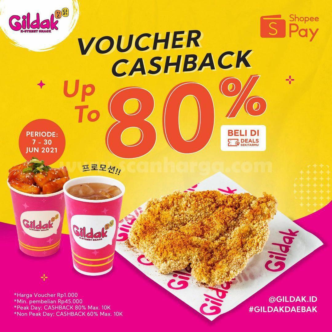 Promo GILDAK SHOPEEPAY Voucher Cashback Up To 80%