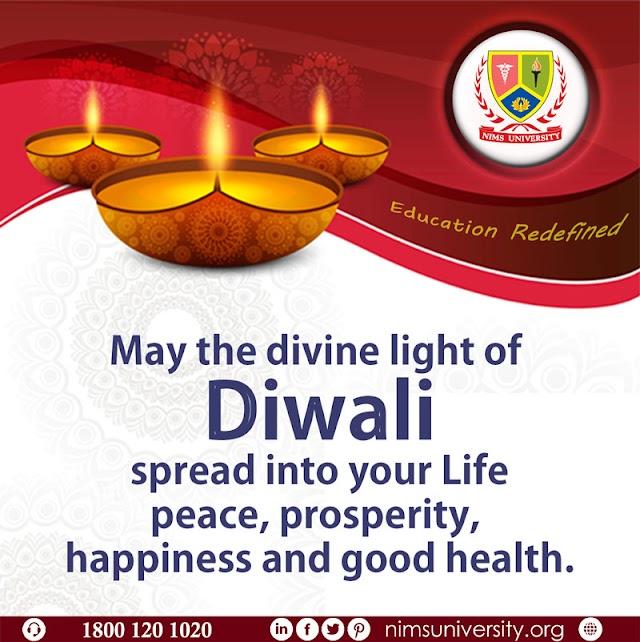Happy Diwali Wishes on Behalf of All Nims University Family
