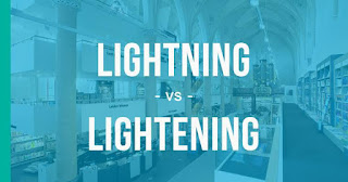 "The Difference between ""Lighting"", ""Lightning"" and ""Lightening"""