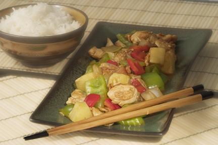 الدجاج  الحار من المطبخ الصينى