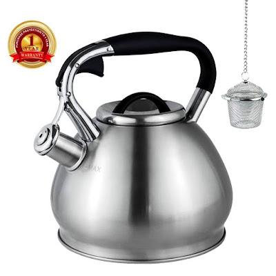 Whistling Tea Kettles Stovetop with Boils Faster Bottom