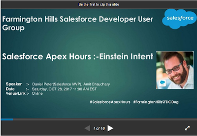 https://www.slideshare.net/AmitChaudhary112/salesforce-apex-hours-einstein-intent/1