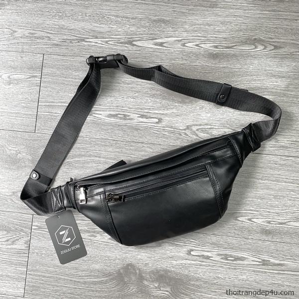 Túi bao tử deo chéo da cao cấp thời trang nam BAM072