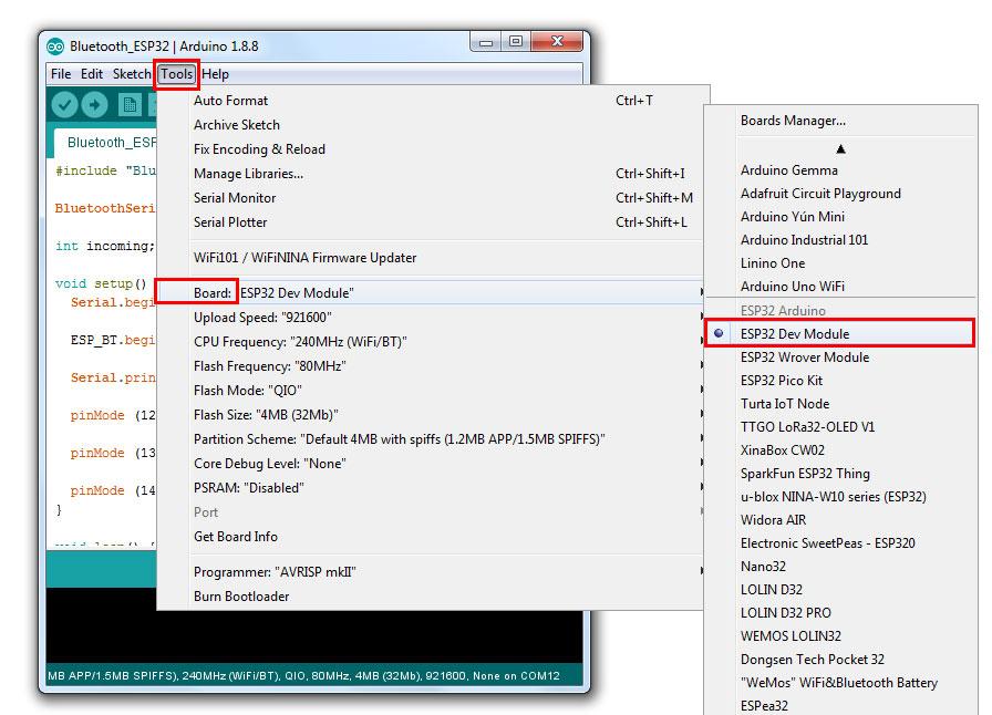 โปรเจค ESP32 DevKit V1 เปิดปิดไฟ ผ่านบลูทูธ BLE ด้วย App มือถือ - โร