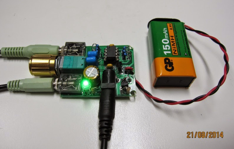 Headphone Audio Circuit Using Tl072