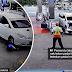 Penunggang motosikal cedera dirempuh dan digilis kereta