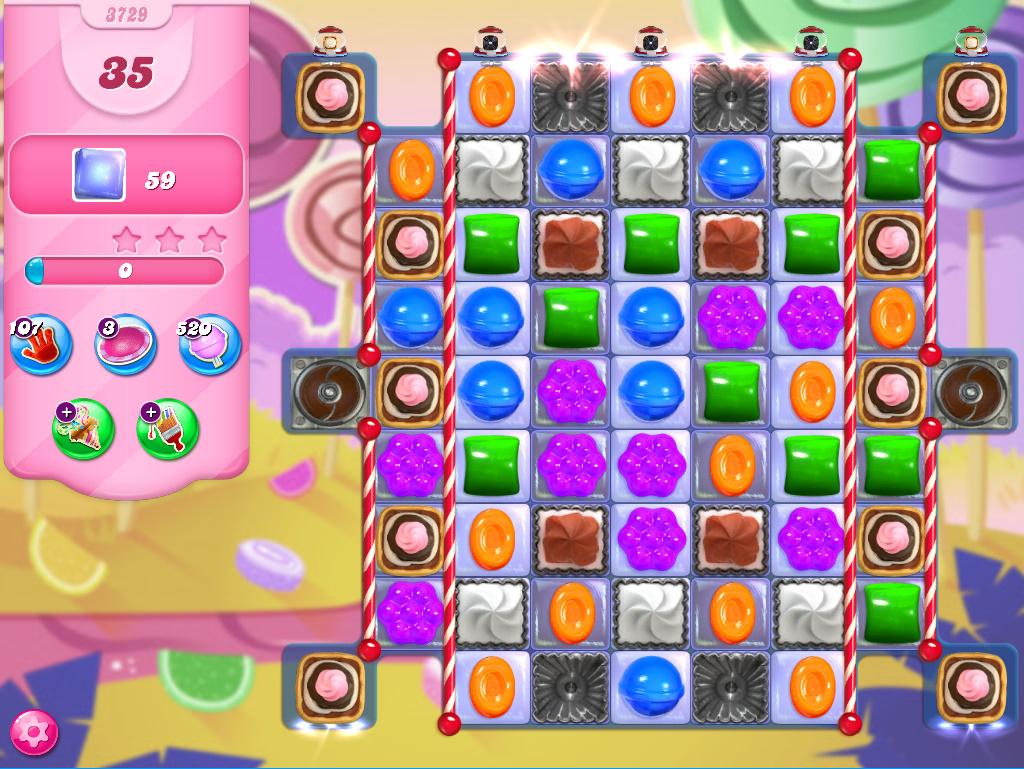 Candy Crush Saga level 3729