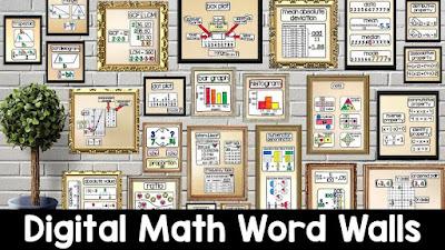 digital math word walls