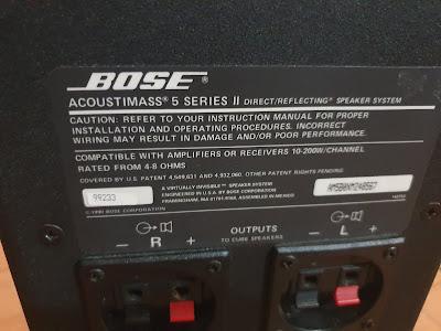 Bose Acoustimass 5 Series ii (Used) 20200704_165922